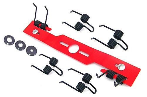 Vertikutiermesser Kraftharke/Rasenmähermesser/Messer/Umbau Kit + 6 Federn