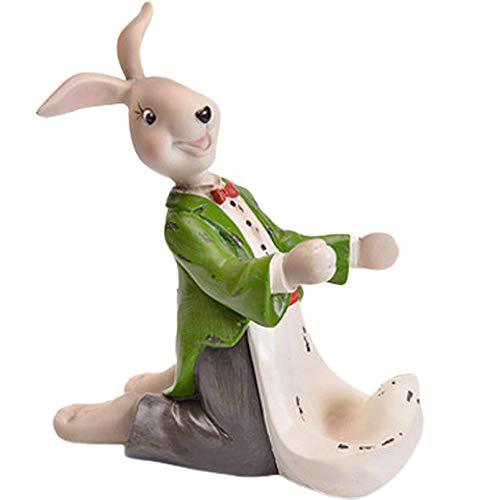 Estante de Vino-Decoraciones Arte Artesanal Estante de Vino de Conejo de Dibujos Animados para el hogar Restaurante Gabinete de Vino Decoración de Resina