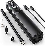 Aimocar Bomba de neumáticos, LCD Recargable Bomba de Bicicleta Aire Inflador electrico Compresor 120PSI 1200mAh Batería de Litio con Linterna LED para Coche, Bicicletas, Motocicletas, Pelotas