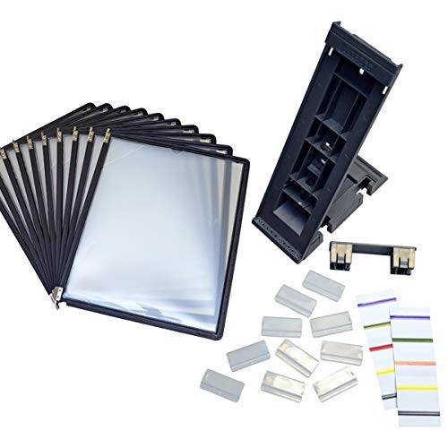 Ultimate Office DocuMate 10-Pocket Desk Reference Organizer Add-On with Black Easy-Load Pockets and Steel-Reinforced Pins (Add-On Module Only)