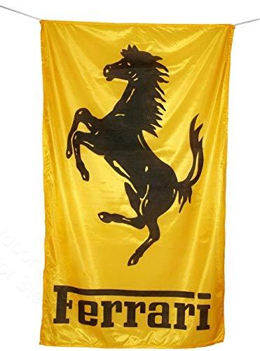 Cyn Flags Ferrari GOLDEN Fahne Flagge 2.5x5 ft 150 x 90 cm