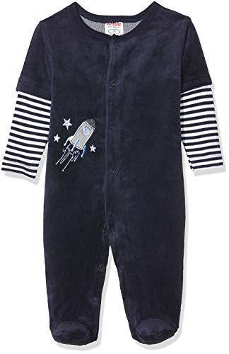 Schnizler Baby-Unisex Schlafoverall Nicki Rakete Schlafstrampler, Blau (Marine 11), (Herstellergröße: 56)