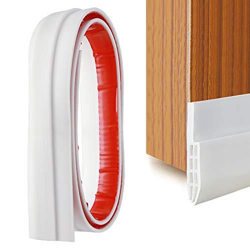 YOUSHARES Guarnizione Per Porta Autoadesiva In Silicone Sottoporta In Gomma Adesivo Pellicola Insonorizzata Door Sweep Weather Stripping, Antirumore, Anti-Bug (Bianco)