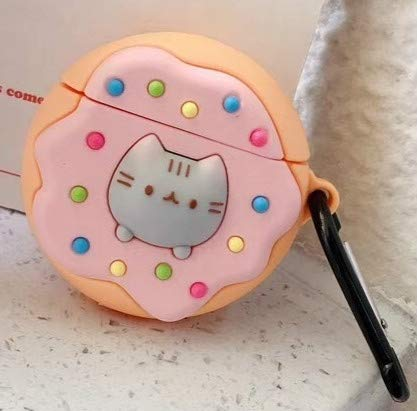 Auriculares Audio y Casos For AirPods de Apple 1/2 Gen Wireless Universal Gato tostadora y Funda Protectora del buñuelo del Gato del Auricular de Bluetooth (Pan Tostado) (Color : Doughnut)