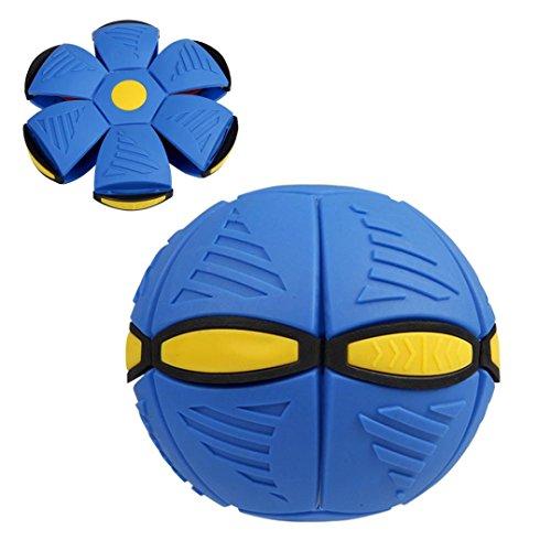Challeng UFO Verformung Ball Fußball Magie Fliegend Fußball Wohnung Werfen Ball Spielzeug Spiel (Blau)