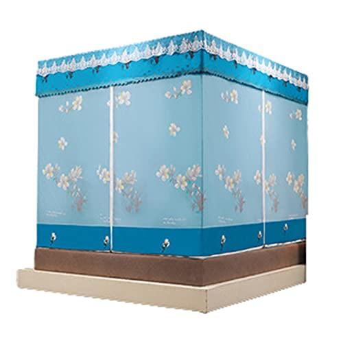 Net Mosquitera Jane Cama Cama Matrimonio Sentado Cama Litera Cortina Sombreado Cremallera,Blue,200x220cm