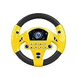 DIYARTS Controlador de Conducción Portátil de Juguete de Volante de Simulación para Niños con Base de Ventosa y Sonido de Música, Regalo Educativo Temprano para Niños Pequeños / Niños (Yellow)