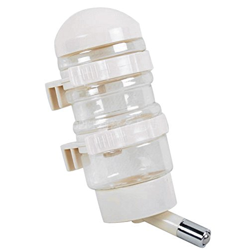 FATPET Dog Water Bottle, 400 ML Pet Dog Water Bottle with Automatically Feeding Water (Beige)