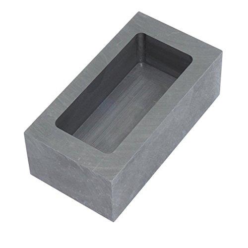 純黒鉛るつぼ 角型 石墨坩堝 鋳造インゴット 鋳型るつぼ シルバーゴールド溶融 金銀銅融解用 (85x45x30mm)