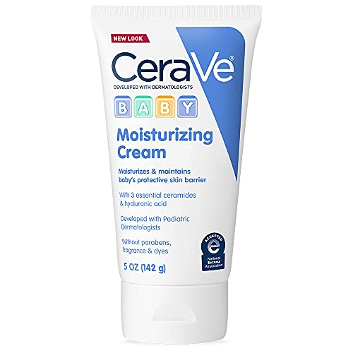 CeraVe Baby Cream   5 Ounce   Gentle Moisturizing Cream with Hyaluronic Acid   Paraben, Sulfate, & Fragrance Free