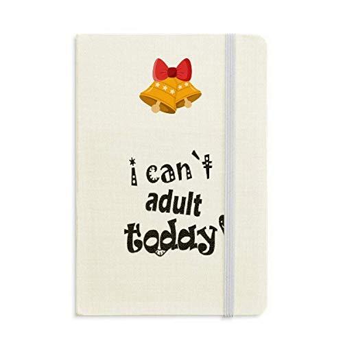 Inglese Word Design Adulto Oggi Notebook Journal mas Jingling Bell