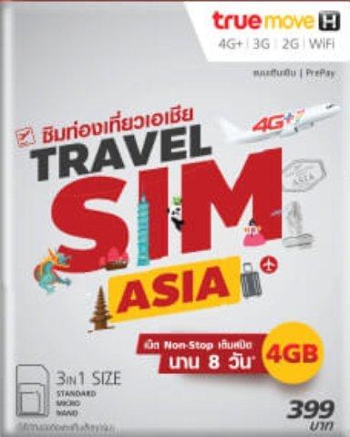 Travel Asia SIM (Silver) 6 GB Non-stop internet for 10 days; Australia, South Korea, Myanmar, Malaysia, Singapore, Japan, China, Taiwan, HK and etc