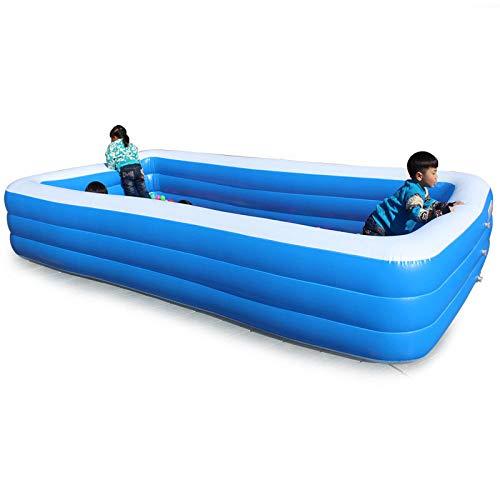 HTHJA Piscina Hinchable Familiar Swim Center,Aumentar la Piscina Inflable Engrosada, la Piscina Infantil Resistente al desgaste-2m,Piscina Hinchable Familiar PVC Ecológico