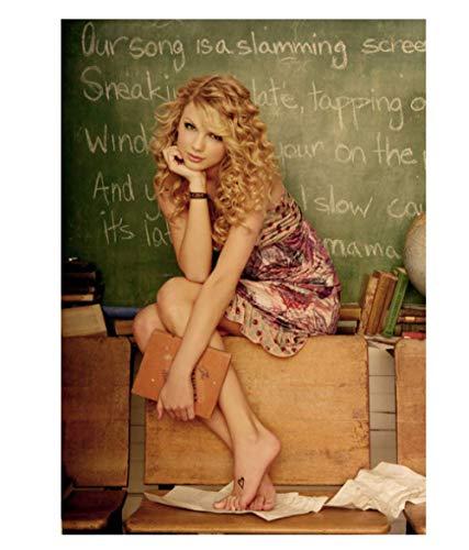 DPFRY Poster Hübsche Sängerin Taylor Alison Swift Leinwand Bild Wandkunst W52Ek 40X60Cm Kein Rahmen