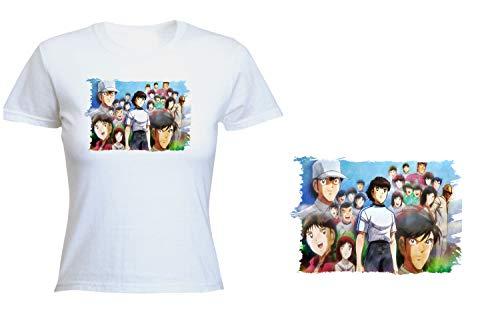 MERCHANDMANIA Camiseta Mujer Oliver Y Benji Tshirt