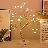 Luces LED Bonsái árbol decorativo árbol artificial alambre de cobre luz batería/USB operado DIY ramas ajustables para decoración del hogar luz nocturna y regalo 36 LED