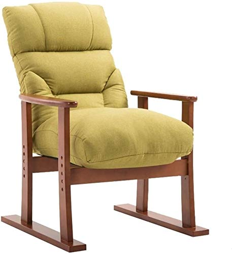 Lhak Sillón reclinable al Aire Libre Jardín sillón, Silla Moderna de Tela Decorativa, cojín de Gran tamaño XL reclinable Ajustable, con el Apoyo del reposacabezas (Color : Dark Frame)