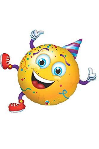 Qualatex 49360 vorm Smiley Party Guy Folie Ballon, 96,5 cm