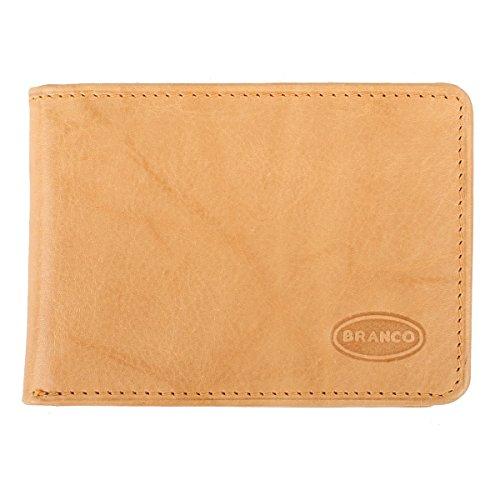 Portafoglio in pelle per la tasca minadesign - borsa per giovane e contralto Nero Crema