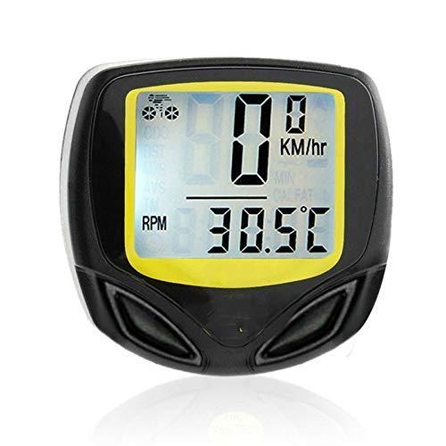 HJTLK Ordenador para Bicicleta, cuentakilómetros Digital inalámbrico Resistente al Agua Velocímetro para...