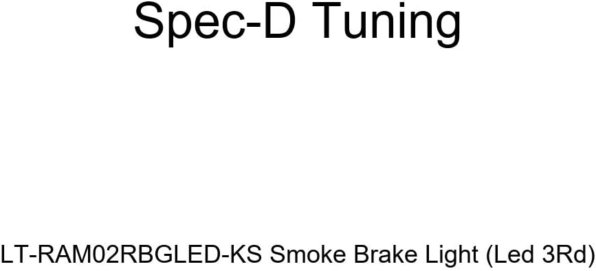 Spec-D Tuning LT-RAM02RBGLED-KS Smoke Limited time sale Max 48% OFF Light Led Brake 3Rd