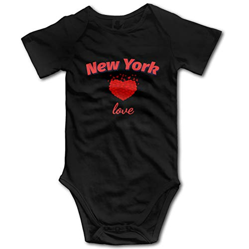 I Love New York Baby Crawler Baby Short Sleeve Jumpsuit Baby Pajamas Black