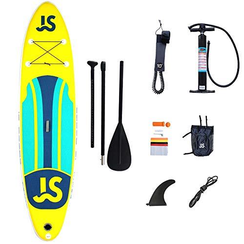 JDDSA Stand Up Paddle Board Surfing SUP Boards für Jugendliche, 335x85x15cm Maximale Belastung 160 kg Aufblasbar mit Kostenlosem Zubehör & Rucksack, Leine, Paddel und Handpumpe für Alle Level