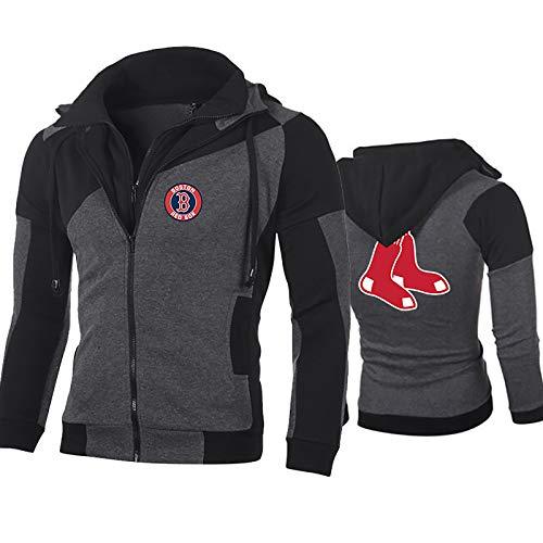 GMRZ Herren Kapuzenpullover, MLB Hoodie Mit Logo Design Major League Baseball Team Sportbekleidung Fans Jersey 3D Sweatshirt Herbst Winter Jacke Unisex,D,XL
