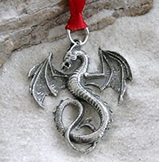 Trilogy Jewelry Pewter Dragon Gothic Fantasy Christmas Ornament and Holiday Decoration