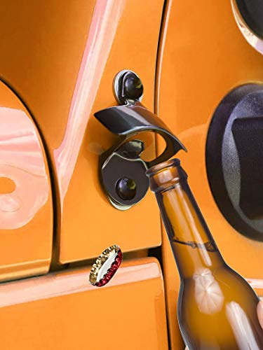 Body Mounted Bottle Opener Jeep Accessory Door Mounted Bottle Opener Fits Jeep Wrangler JK, JK Unlimited Exterior Accessories