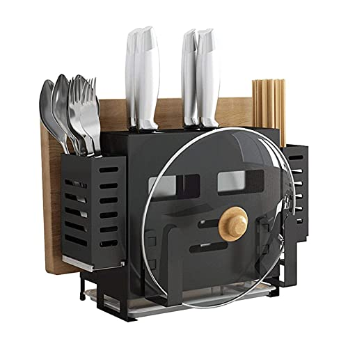 AoFeiKeDM Kitchen Knife Holder multifunctional rack 201 stainless steel knife holder chopsticks integrated rack free punch Countertop Space Saver Display