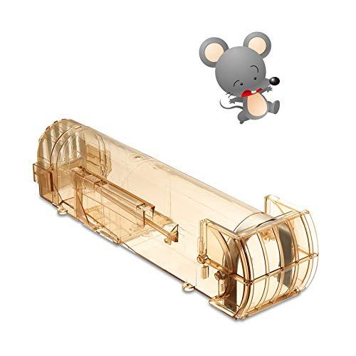 SAFETYON Piège à souris automatique sans cruauté pour rats, rongeurs, rats, rats, rats, rats, rats et nuisibles Marron