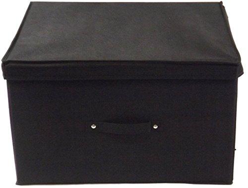 Neusu Starke Faltbare Aufbewahrungsbox Jumbo 60 Liter 50x40x30cm 1/pack Schwarz