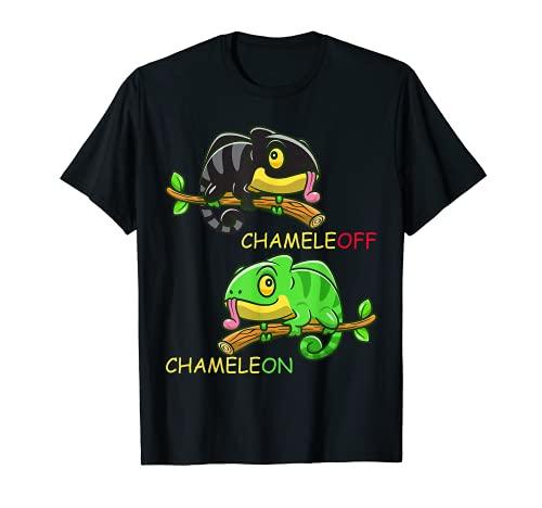 Chameleon-Chamäleon-Eidechse Witz Witzige Reptilien T-Shirt