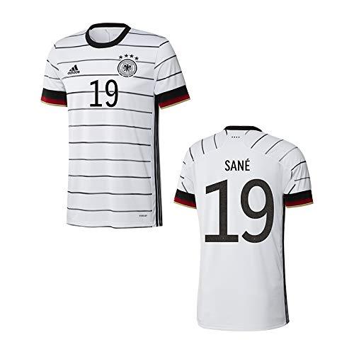 adidas DFB Deutschland Trikot Home EM 2020 Kinder inkl. Original Flock (Sane + 19, 164)