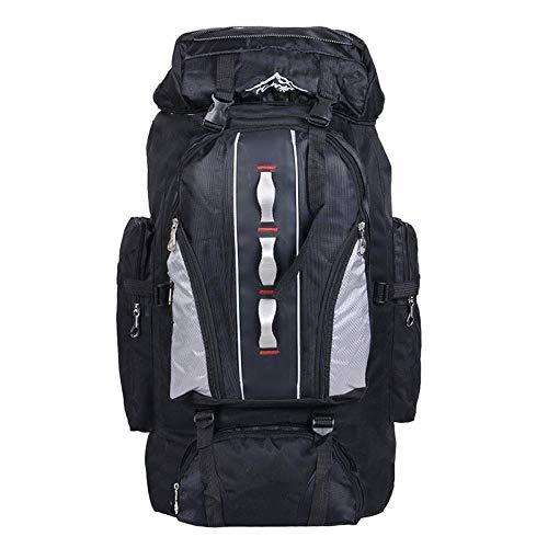 ZHEBEI 100L waterproof unisex men's backpack travel bag BlackColor