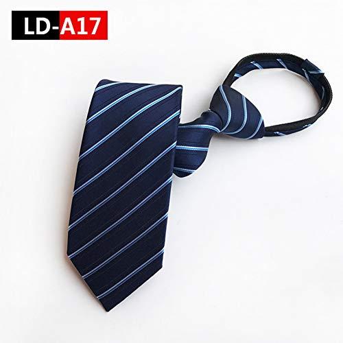 CDBGPZLD Herrenanzüge sind unentbehrlich Krawatte mit Reißverschluss Fauler Edle Krawatte mit feinen Linien Hochzeitsfeier