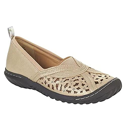 WHIO Women's Support & Breathable Flat Sandals Hollow Design Vintage Shoes Summer Supply