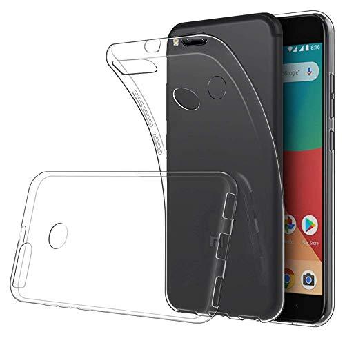 LuluMain Funda Xiaomi Mi A1, Xiaomi Mi 5X TPU Transparente Slim Silicona Case Cover [Anti-arañazos] para Xiaomi Mi A1, Xiaomi Mi 5X