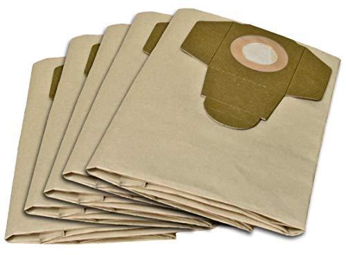 5 Staubsaugerbeutel geeignet für PARKSIDE PNTS 1400, 1500 A1, B1, B2, B3, C1, C3, D1, E2, C4, F2