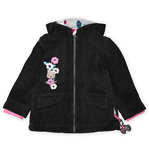 Sigikid Mädchen Fleecejacke mit Kapuze Jacke, (Grau 82), (Herstellergröße: 116)