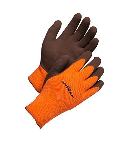 Worksafe Arbeitshandschuhe Thermo, Winter, rutschfest, Abriebfest, EN388 – H50-462W, 1 Paar, Gr. 11=XXL, orange
