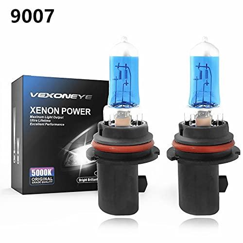 VEXONEYE 9007/HB5 Halogen Headlight Bulb 12V 65/55W White 5000K Lights Headlamp Super Bright