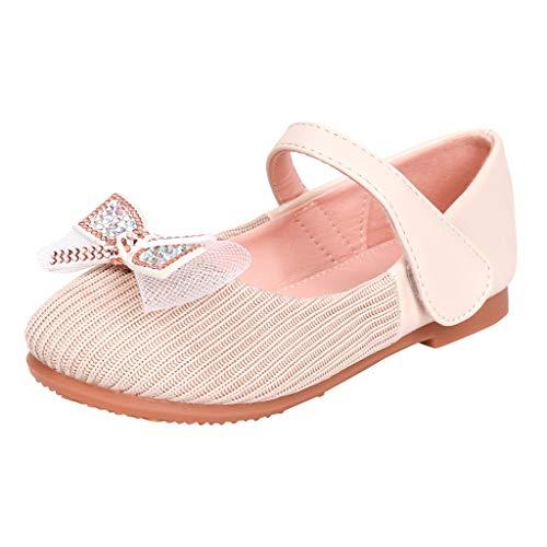 pequeño y compacto Zapato plano con suela blanda cierre velcro Zapato clásico para niña Zapato princesa con lazo…