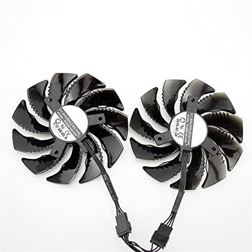 88mm PLD09210S12HH T129215SU 4pin Fan de Enfriador para Gigabyte GTX1070 1070 TI RX 570 580 470 480 RX570 RX580 Tarjeta de gráficos (Blade Color : AA 2PCS)