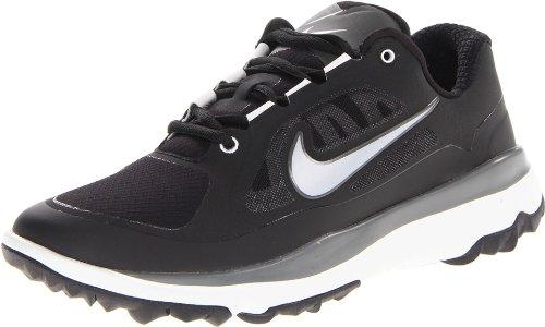 Nike FI Impact (W), Zapatillas de Golf Hombre, Negro/Plateado/Gris (Blk/Mtllc Slvr-Lt BS Gry-Drk B-), 40