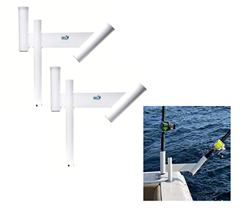 Glide Gear 2X Dual Offset Fishing Rod Spreader Outrigger Boat Trolling Holders Pair