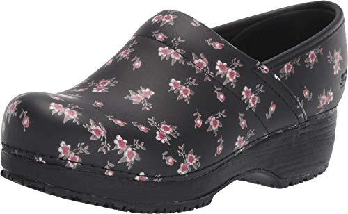 Skechers Work Clog SR Slip Resistant Womens Shoes Black/Pink 7.5