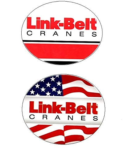 Link-Belt Crane Sticker Bundle. Hardhat/Decals. Great for the Roughneck, Oil Worker, Construction Worker. Looks great on a Helmet, Lunchbox, or Toolbox.