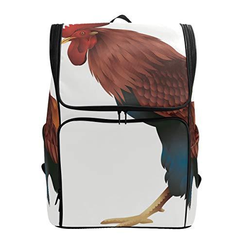 Fantazio Big Rooster Sac à Dos pour Ordinateur Portable, Voyage, randonnée, Camping, décontracté, Grand Sac à Dos pour l'école